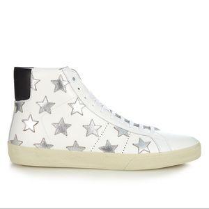 SAINT LAURENT white high top sneaker size 39 US 9